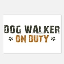 Dog Walker On Duty Postcards (Package of 8)