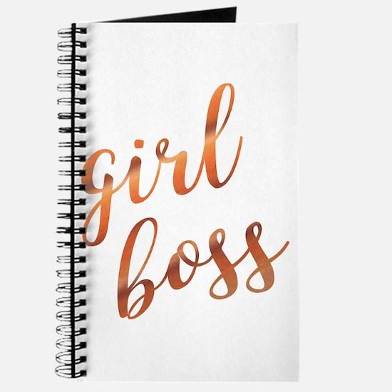 Girl Boss Inspirational Rose Gold quote gi Journal
