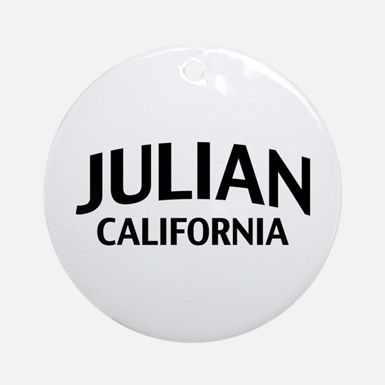 Julian California Ornament (Round)