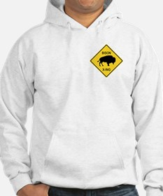 Bison Crossing Sign Hoodie