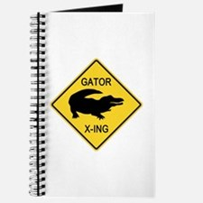 Alligator Crossing Sign Journal