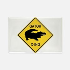 Alligator Crossing Sign Rectangle Magnet