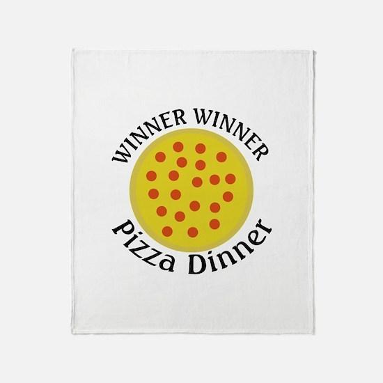 Winner Winner Pizza Dinner Throw Blanket