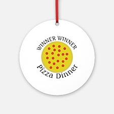 Winner Winner Pizza Dinner Ornament (Round)