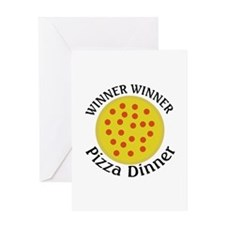 Winner Winner Pizza Dinner Greeting Card