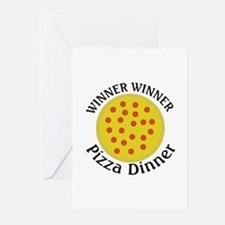 Winner Winner Pizza Dinner Greeting Cards (Pk of 2