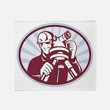 Surveyor Geodetic Engineer Throw Blanket