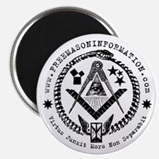 "Freemason Information 2.25"" Magnet."