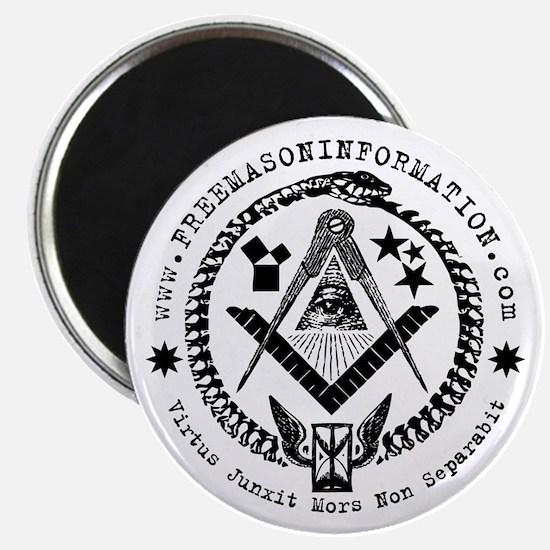 "Freemason Information 2.25"" Magnet."