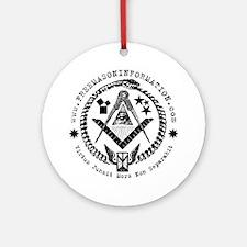 Freemason Information Ornament (Round).