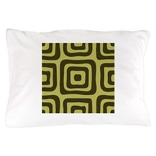 Green Target Geometric Pillow Case