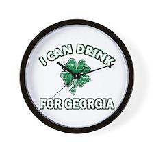 Irish drinking designs Wall Clock