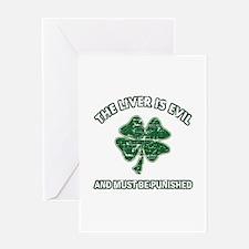 Irish drinking designs Greeting Card
