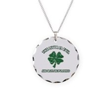 Irish drinking designs Necklace