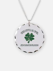 Irish drinking designs Necklace Circle Charm