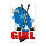 Hockey Girl Mini Poster Print