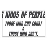three kinds of people t-shirt Sticker (Rectangle)