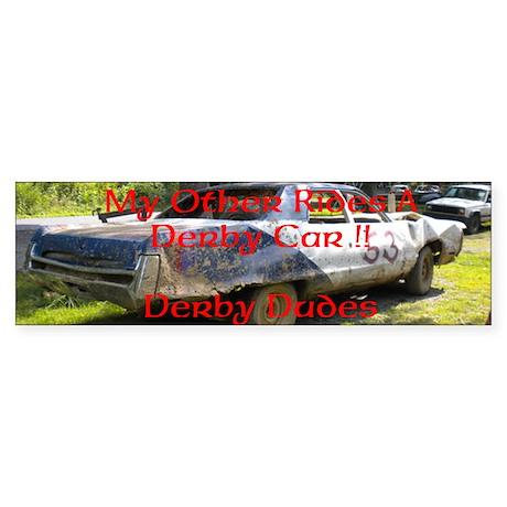 demolition derby Sticker (Bumper)