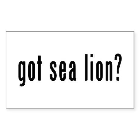 GOT SEA LION Sticker (Rectangle)