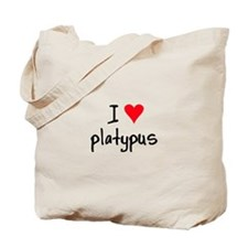 I LOVE Platypus Tote Bag