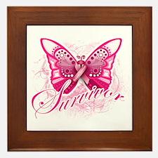 Survivor - Breast Cancer Framed Tile