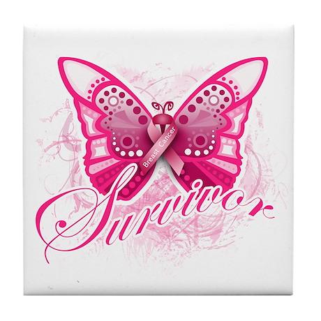 Survivor - Breast Cancer Tile Coaster