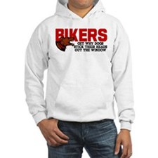 Bikers Head Out Window Hoodie