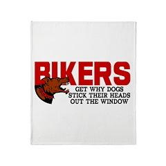 Bikers Head Out Window Throw Blanket