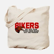 Bikers Head Out Window Tote Bag