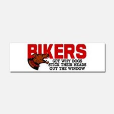Bikers Head Out Window Car Magnet 10 x 3