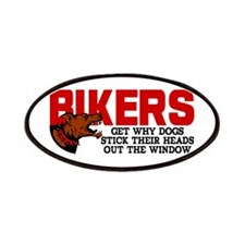 Bikers Head Out Window Patches