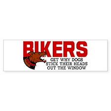 Bikers Head Out Window Bumper Sticker