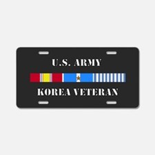 Army Korea Vet 1 Star Aluminum License Plate
