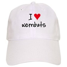 I LOVE Wombats Baseball Cap