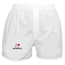 I LOVE Wallabies Boxer Shorts