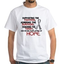 © Supporting Admiring 3.2 Brain Cancer Shirts Whit