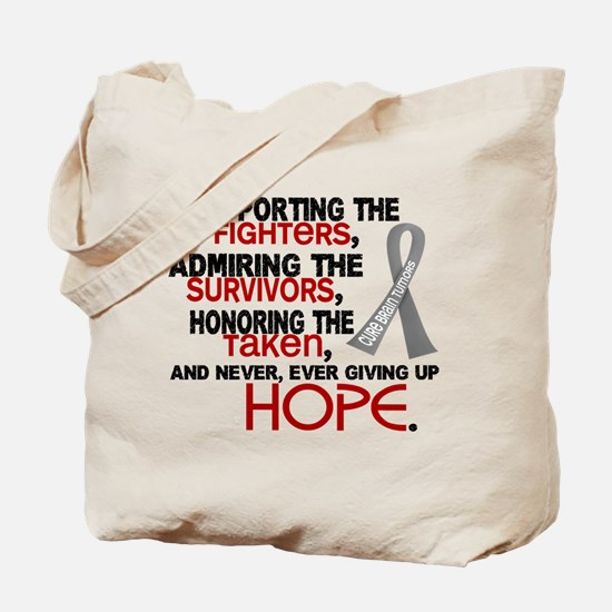© Supporting Admiring 3.2 Brain Cancer Shirts Tote