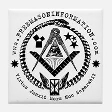 Freemason Information Tile Coaster