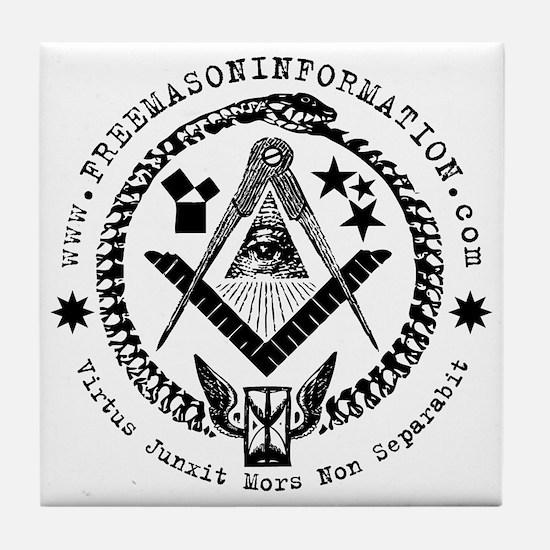 Freemason Information Tile Coaster