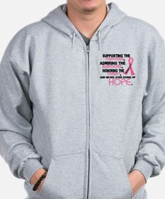 © Supporting Admiring 3.2 Breast Cancer Shirts Zip Hoodie