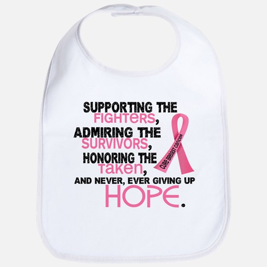 © Supporting Admiring 3.2 Breast Cancer Shirts Bib