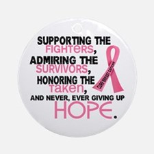 © Supporting Admiring 3.2 Breast Cancer Shirts Orn