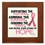 Breast cancer Framed Tiles