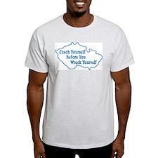 Czech Yourself Ash Grey T-Shirt