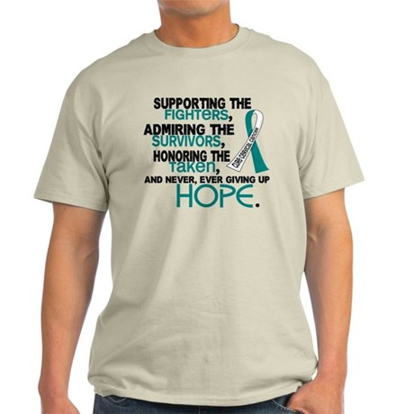 © Supporting Admiring 3.2 Cervical Cancer Shirts L
