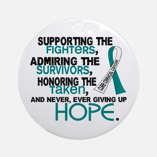© Supporting Admiring 3.2 Cervical Cancer Shirts O