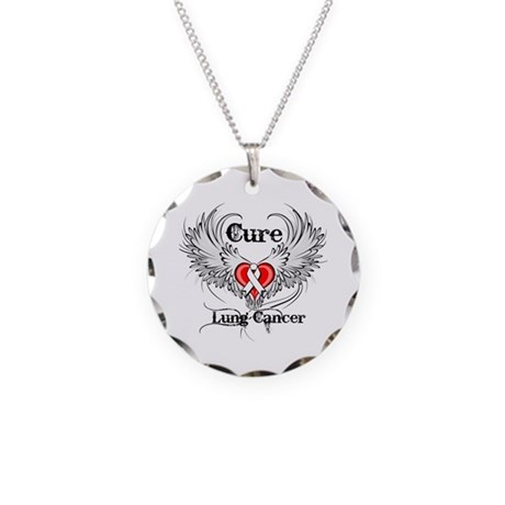 Cure Lung Cancer Necklace Circle Charm