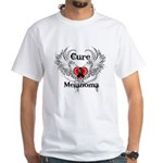 Cure Melanoma White T-Shirt