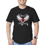 Cure Melanoma Men's Fitted T-Shirt (dark)