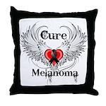 Cure Melanoma Throw Pillow